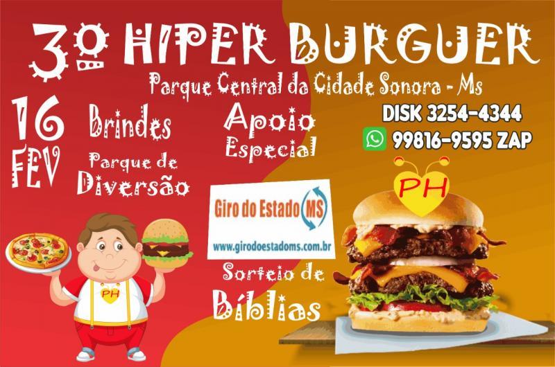 Confira os patrocinadores do 3º hiperburguer em Sonora-MS