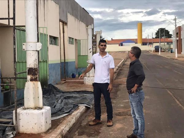 TRABALHO| PREFEITO DE SONORA ENELTO RAMOS MOSTRA TRABALHO NO PARQUE DA CIDADE