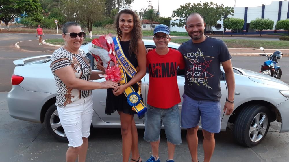 Confira a recepção da Mis Mato Grosso do Sul pelo prefeito e Enelto e primeira dama em Sonora MS