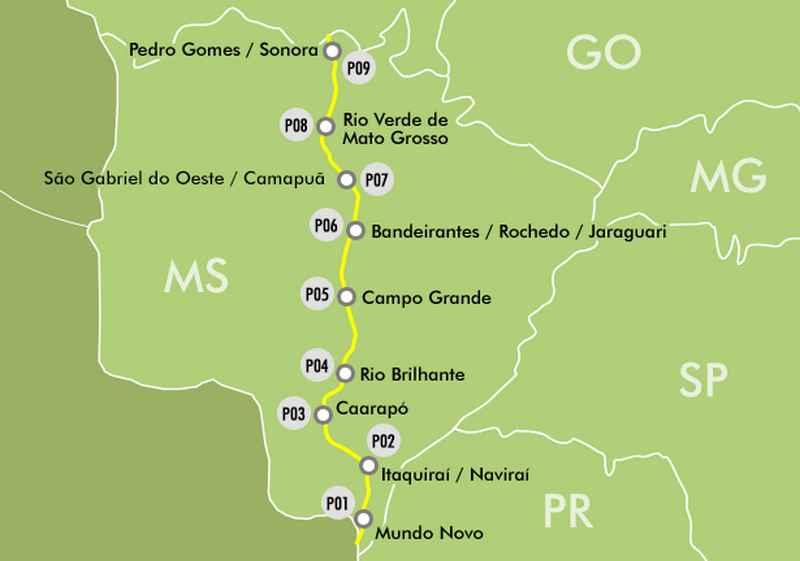CCR MSVia informa| BR-163/MS tem trechos em obras com operações pare-e-siga