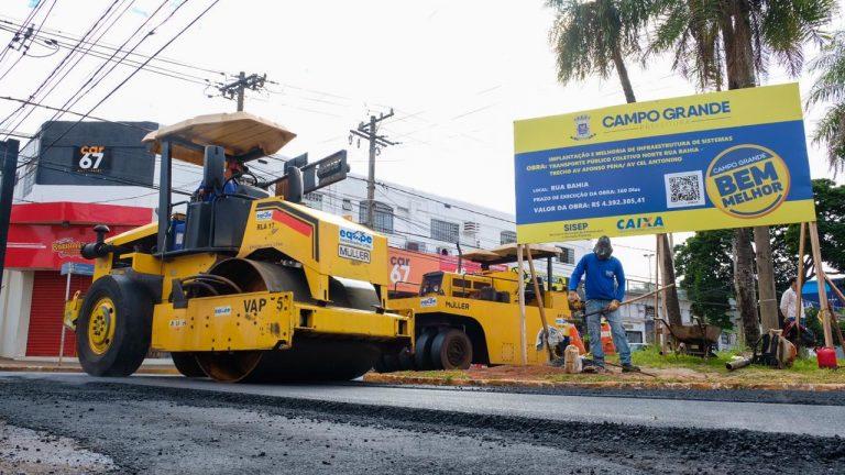 Começa última etapa do recapeamento na Rua Bahia que deve terminar em uma semana