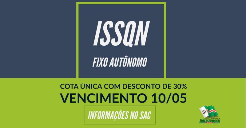 BATAGUASSU  Prefeitura oferece desconto de 30% para pagamento de ISSQN fixo autônomo em cota única