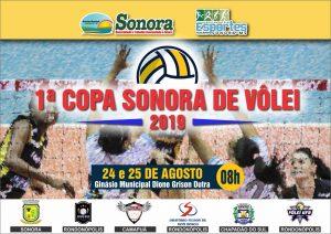SONORA-MS| Com participação de quatro cidade 1ª Copa Sonora de Vôlei acontece no próximo fim de semana com premiação de R$ 3.400 mil