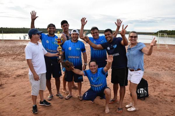 Equipe Lagoa 1 sagra-se campeã do torneio de veterano futebol Society realizado no primeiro Agita Sonora